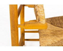 Armchair in ash and straw 1950