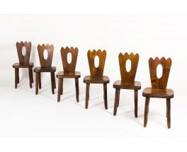 Olavi Hanninen chairs in elm edition Mikko Nupponen 1960 set of 6