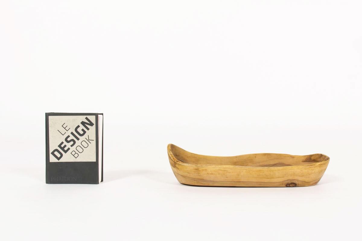 Vide poche haricot en olivier 1950