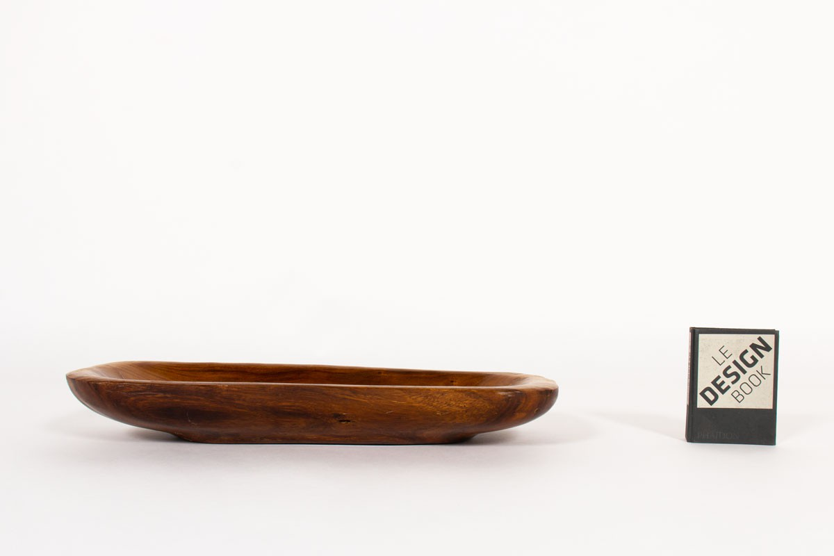 Plate large model in mahogany 1950