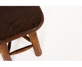 Brutalist stool in tinted pine 1950
