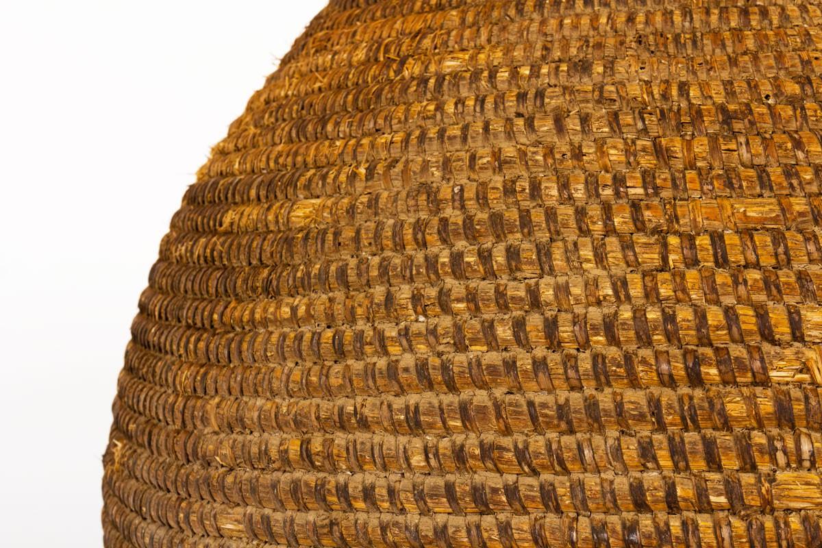 Cache-pot grand modèle en seigle et paille