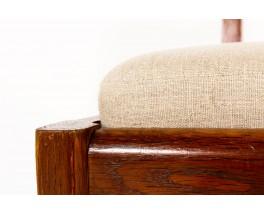 Chaises Charles Dudouyt chêne et lin 1930 set de 12