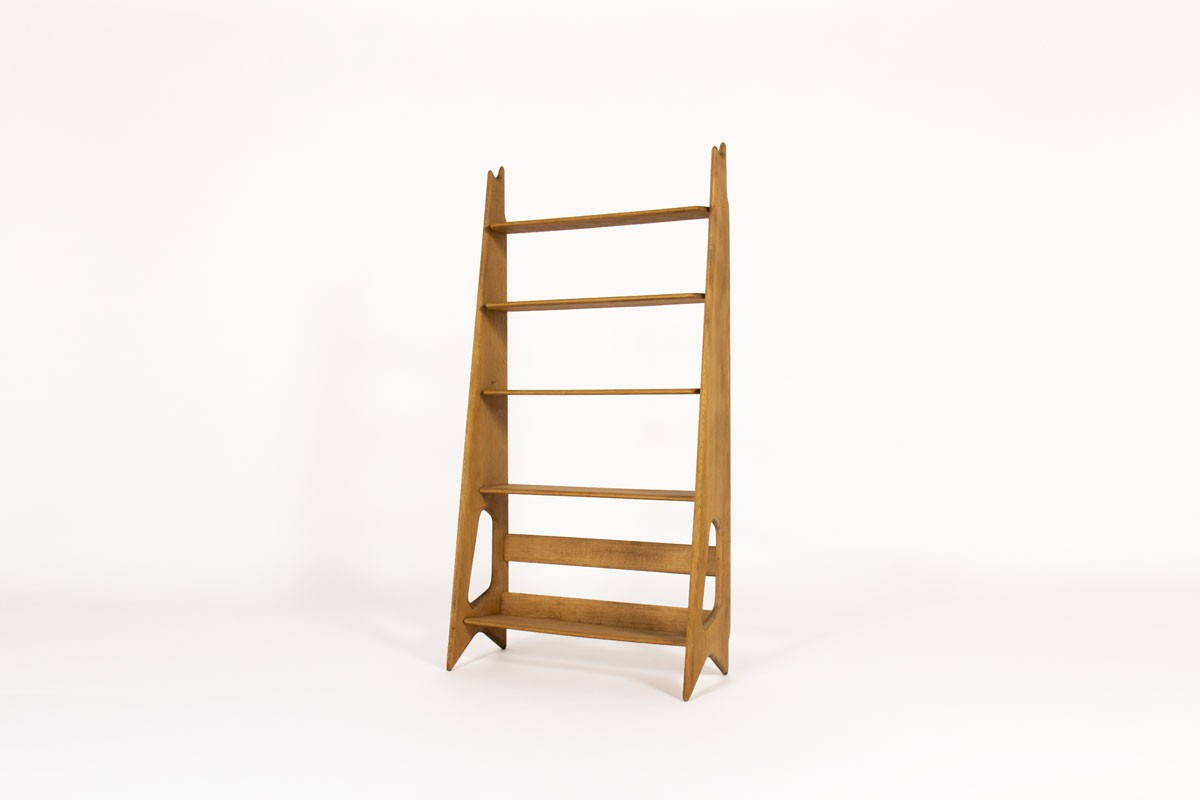 Pierre Cruege shelving unit in oak 1950