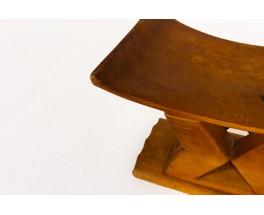 Tabouret en bois design africian 1950