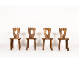 Olavi Hanninen chairs in elm edition Mikko Nupponen 1960 set of 4