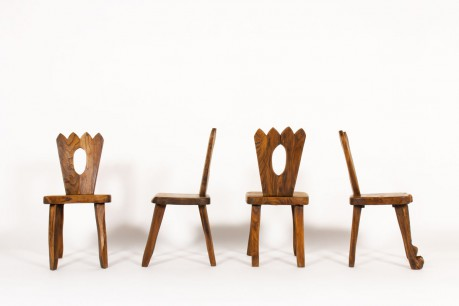 Olavi Hanninen chairs in elm edition Mikko Nupponen 1960 set of 4