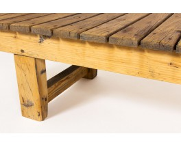 Coffee table large model in pine 1950