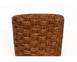 Round stools in braided rope 1950 set of 4
