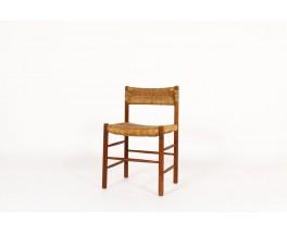 Chaises modèle Dordogne en frêne édition Sentou 1950 set de 8