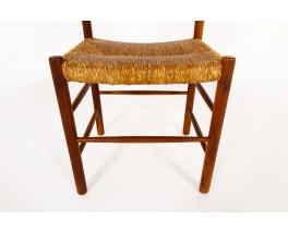 Chairs model Dordogne in ash édition Sentou 1950 set of 8