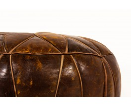 Pouffes in leather 1960 set of 2