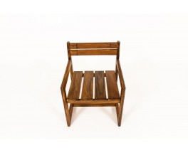 Andre Sornay armchair in tinted pine 1960