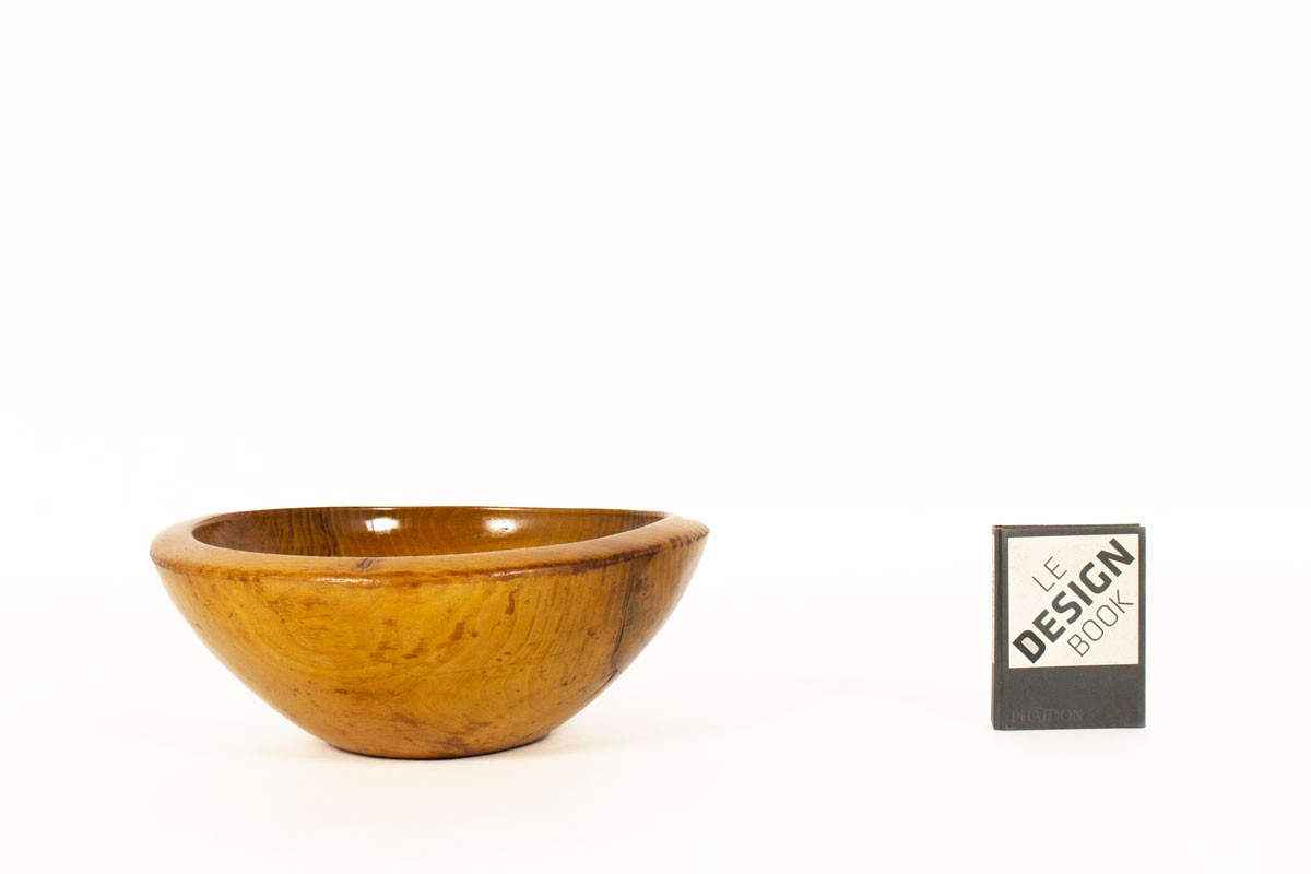 Wood bowl with Moroccan design 1950