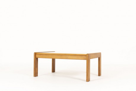 Andre Sornay coffee table large model tinted beech and grey laminate 1960