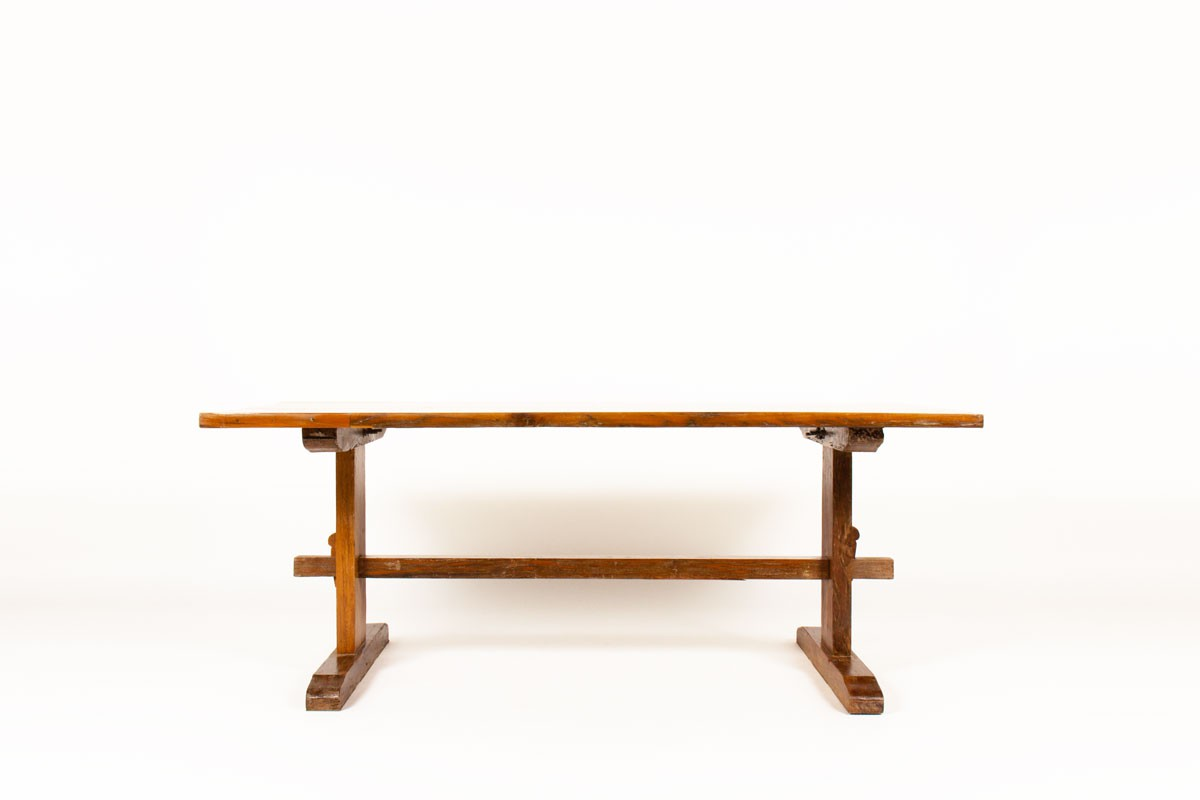 Rectangular dining table Brazilian wood 1950