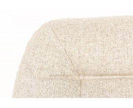 Chauffeuses tissu snowy gris Maison Thevenon 1970 set de 2