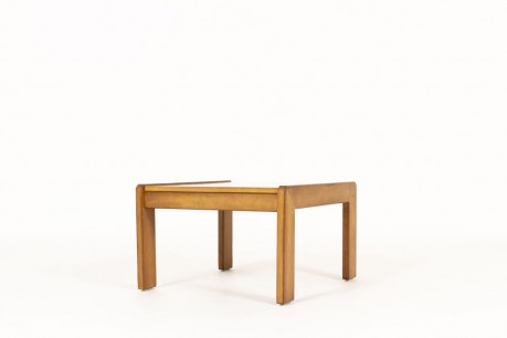 Andre Sornay coffee table small model tinted beech and grey laminate 1960
