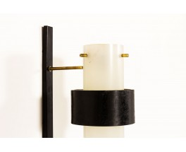 Wall lights black brass and perspex edition Arlus 1950 set of 2