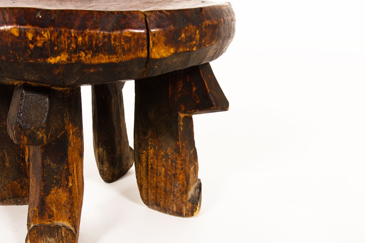 Stool monoxyl small model in wood African design