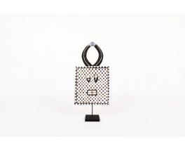 Masque Goli à damiers design primitif Côte d'Ivoire 1950