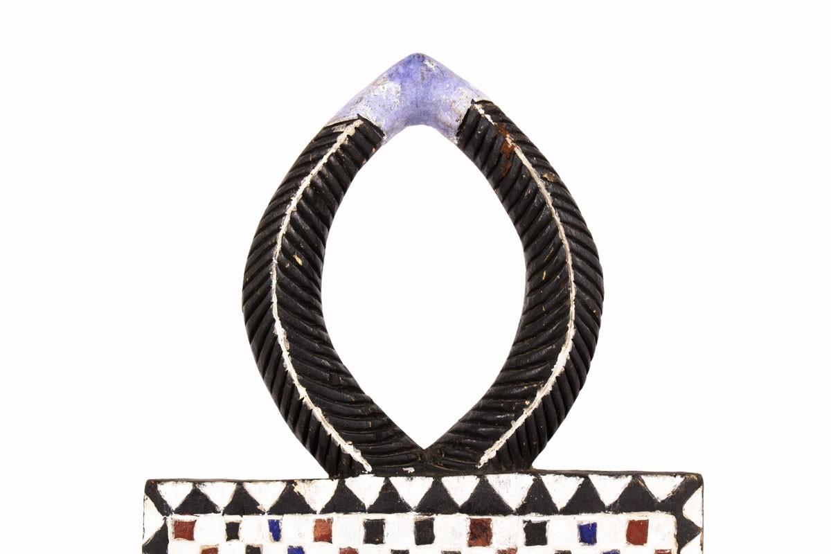 Goli mask primitive design Ivory Coast 1950