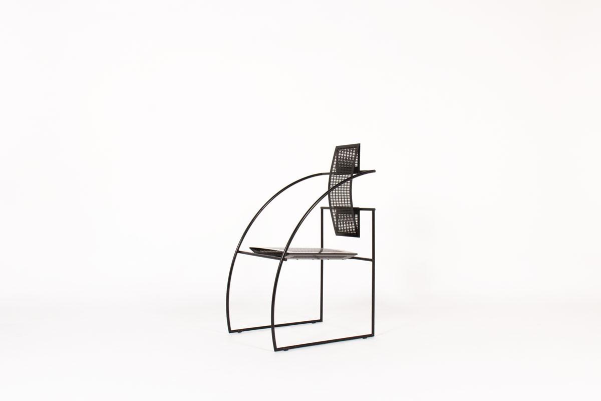 Chaise Mario Botta modèle Quinta métal noir édition Alias 1985