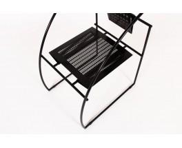 Mario Botta chair model Quinta black metal edition Alias 1985