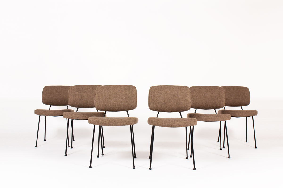 Pierre Paulin chairs model CM196 edition Thonet 1950 set of 6