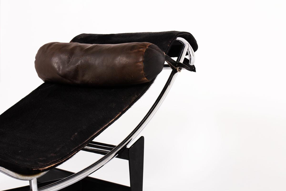 Chaise longue Charlotte Perriand Le Corbusier modèle LC4 première édition Cassina 1965