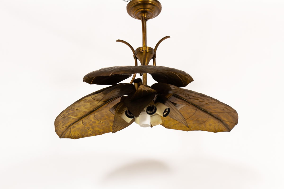 Pendant light in brass 1950