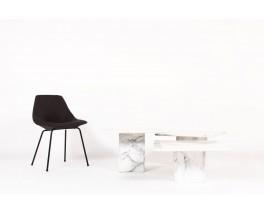 Tables basses gigognes en marbre de Carrare 1970 set de 3