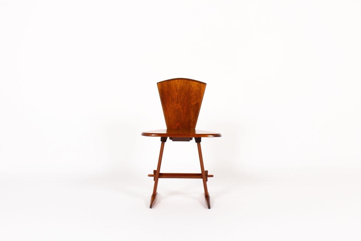 Chaise en acajou 1950