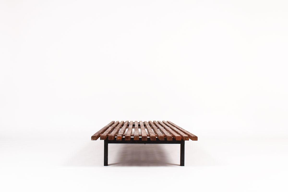 Charlotte Perriand low bench model Cansado mahogany edition Steph Simon 1960