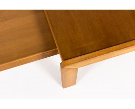 Andre Sornay nesting coffee tables in tinted beech 1960 set of 2