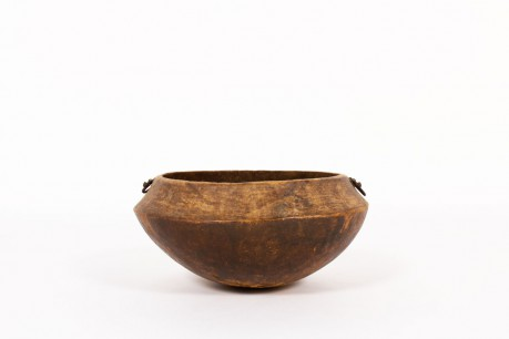 Bowl monoxyl in wood brutalist design 19th century
