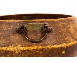 Bowl monoxyl in wood brutalist design 19th century