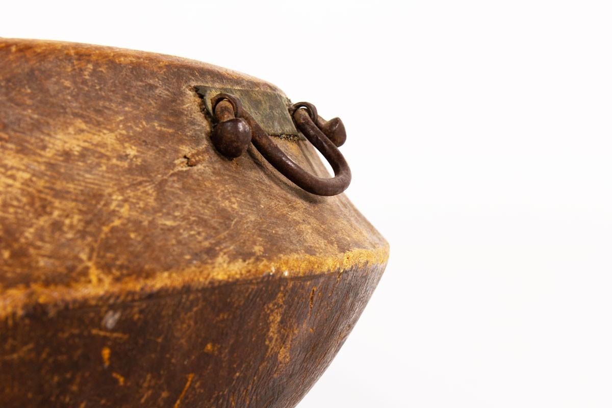 Plat monoxyle en bois design brutaliste XIXème siècle