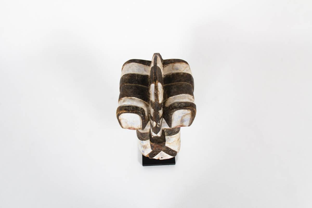 African Kifwebe Songye mask in wood Congo 1950