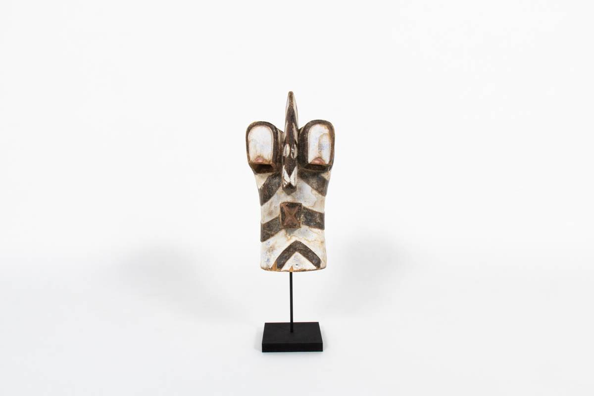 Masque africain Kifwebe Songye en bois Congo 1950