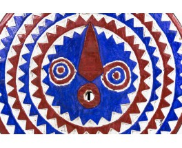 African solar mask bwa mossi in wood Burkina Faso 21th-century