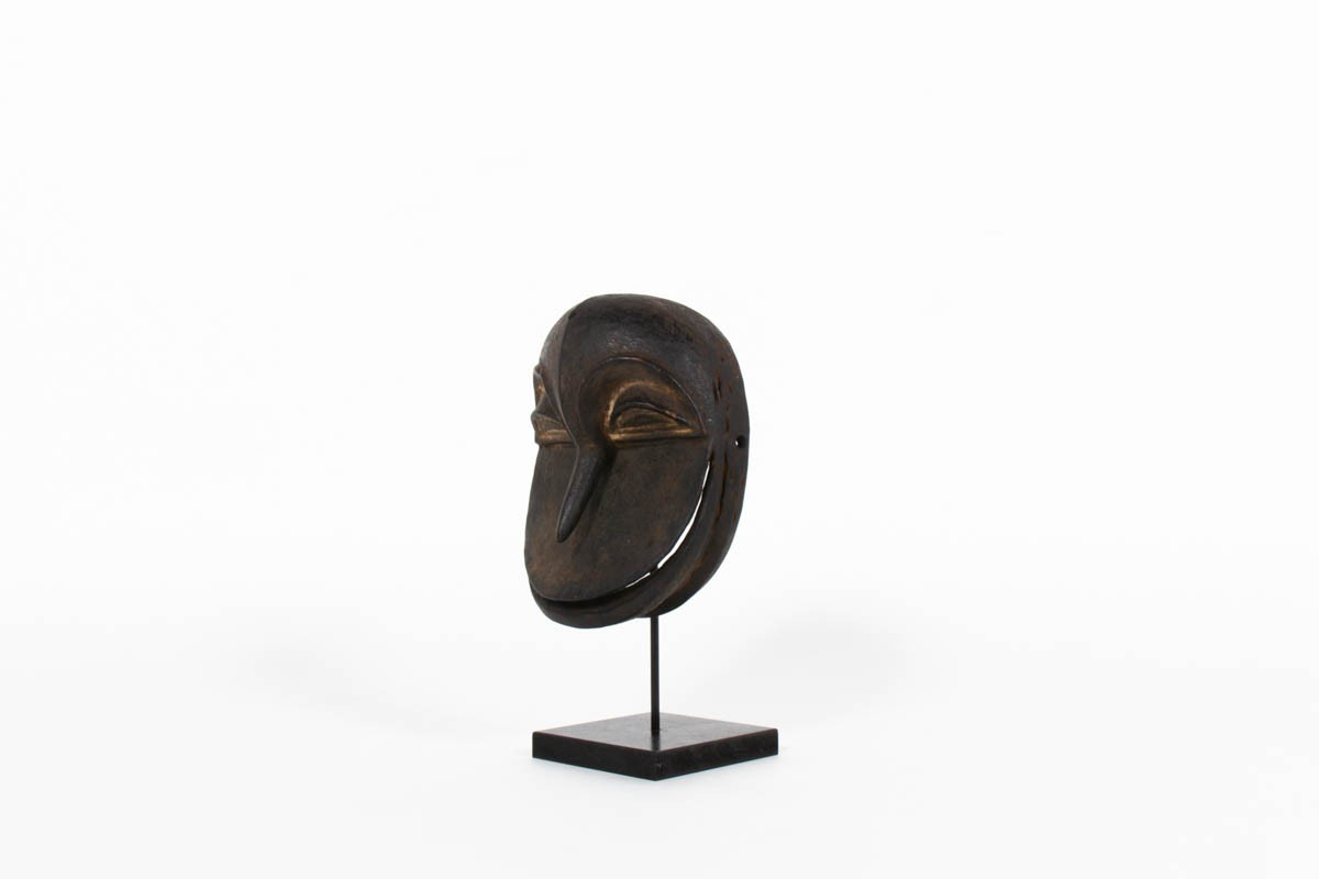 Masque Africain Hemba en bois Congo 1970