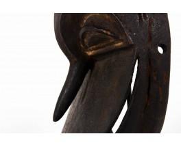 African Hemba mask in wood Congo 1970