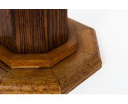 Tabourets bois et tissu bouclette Maison Thevenon design Art Déco 1930 set de 2