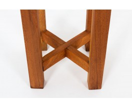 Stools in mahogany 1950 set of 2