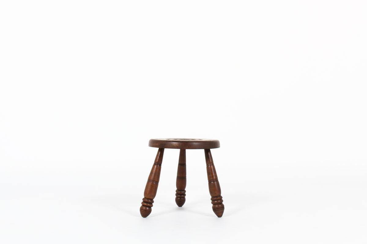 Stool in oak 1950