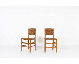 Charlotte Perriand chairs model Bauche n°19 edition Steph Simon 1950 set of 2