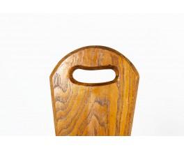 Chaises en chêne design brutalist 1950 set de 3