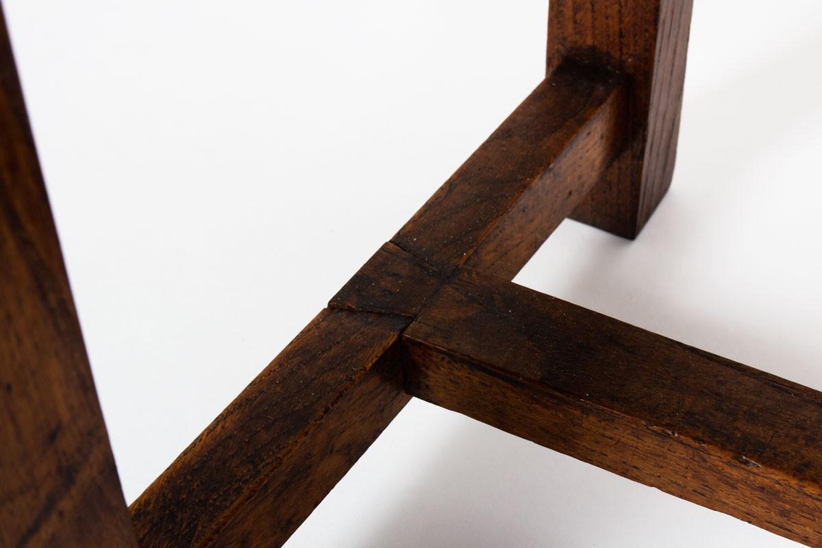 Fauteuils en chêne design reconstruction 1950 set de 2