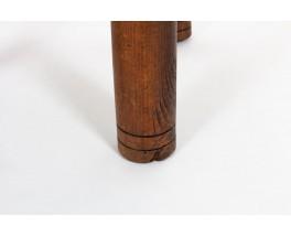 Chaises Charles Dudouyt en chêne et corde 1930 set de 6